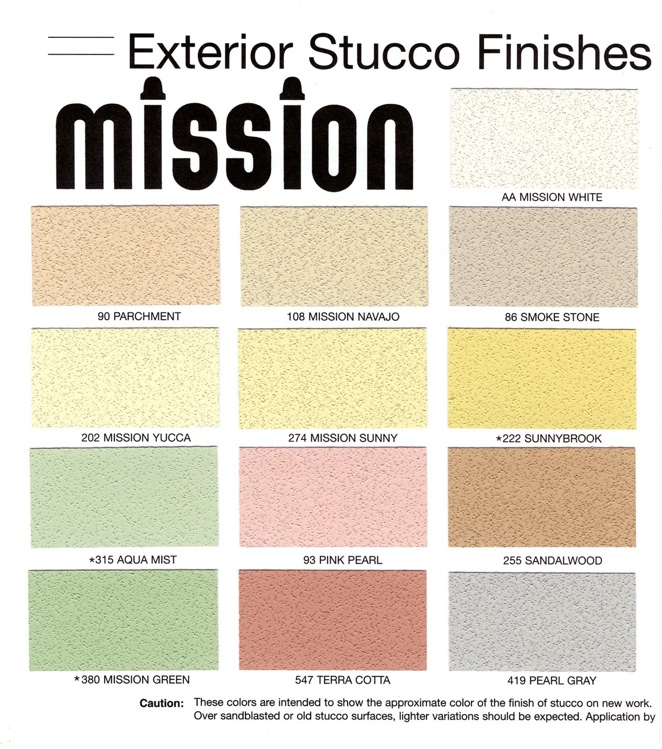 Stucco Color Chart Stucco Color Charts Blue Collar Stucco